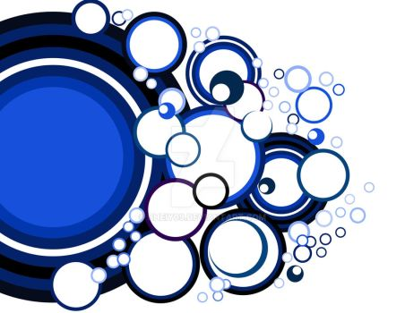 Blue Circle Vector by bheiy09