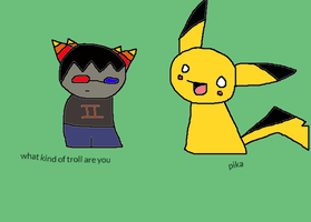 Sollux and Pikachu by Fabulous-Sollux