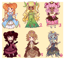 Princesses Adoptables [SOLD] by Pyonkotcchi