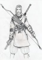 Scothland medieval archer by orcbruto