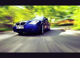 BMW 530 speeding in teh forest by dejz0r