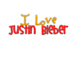 Texto Png de I Love Justin bieber by LeahEditiions