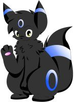 Zachary The Umbreon by Zander-The-Artist