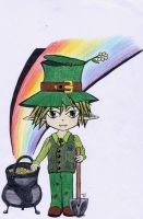 Leprechaun color by happy-neko