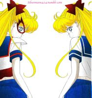 Minako is Sailor V~ a manga coloring by Mileyangel321