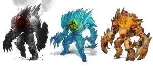 Legendary Golems - Regice Regirock Registeel by Karl-Smink
