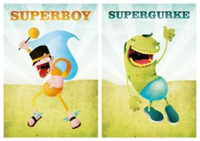Superboy and Supercuke by artcoreillustrations