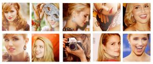 10 icons Diana Agron by Dinosaursattack