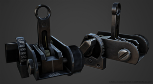 Matech BUIS flip up sights by Tom3dJay