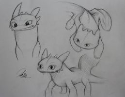Toothless Sketches by Pajaga