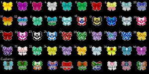 Kawaii Pixel Bow Series (FOR SALE) by PennyPixie