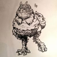 Inktober 09 Chifrogs by butterfrog
