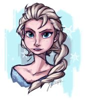 Elsa quick sketch by Andante2