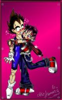 Me and Vegeta Jr XD by princesstressa