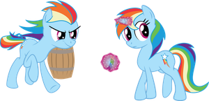 EQD-ATG Day 20: Swapped Species Pony by JustABlankFlank