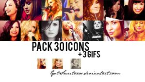 Pack 3O icons de Demi Lovato + 3 icons gif by GotSweetness