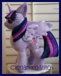 My little pony Twilight Sparkle plush commission by CINNAMON-STITCH