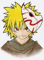 Naruto and Anbu Mask by edds-bestfriend