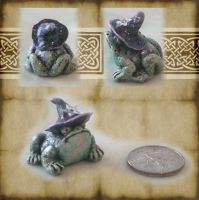 Witch's Froggy Familiar by grimdeva
