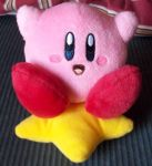 Kirby on the Warp Star by KirbyIsLove