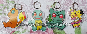 Pokemon Kanto keychains by Alien-Snowflake