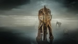 Elephant warrior by basquiat79