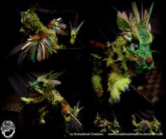 Handmade OOAK Poseable Forest Dragon by SonsationalCreations