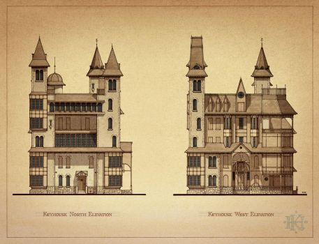 Keyhouse Elevations 1 by GabrielRodriguez