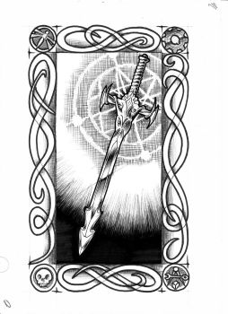Goblin Tarot - The Magic Sword by vulpinoid