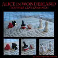 Alice in Wonderland Earrings by LightningMcTurner