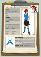 Alexandria Griffin App by ssjryuminoru