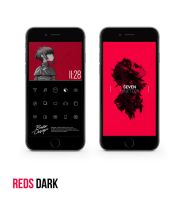 REDS DARK MINIMAL SETUP IPHONE6 by yohandeku32
