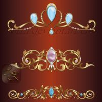 Vector onaments design elements color 18 by Lyotta