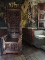 Throne chair in castle room by Simbores