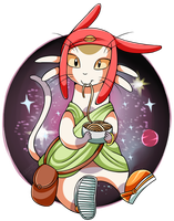 Space Dandy: Meow by Sweetochii