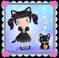 Lucky Gothic Lolita Kitty by Princess-Peachie