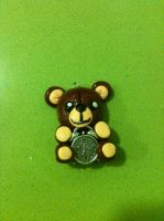 Teddy bear with clock by anapeig