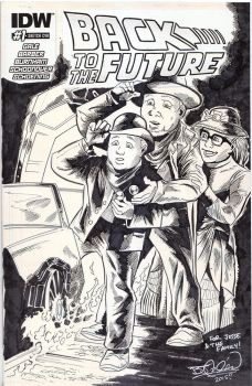 Back to the Future sketch cover inks by EpicBenjaminJ