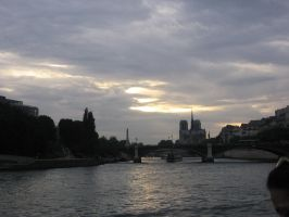 Sun Peeking Out on the Seine by brillante