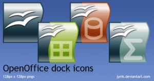 OpenOffice dock icons by JyriK