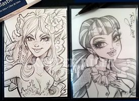 ATC Fairy and Draculaura by KelleeArt