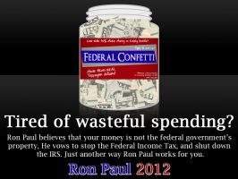 The Wasted Money Jar by RonPaulDesigns