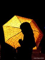 Girl with umbrella by enricotasca