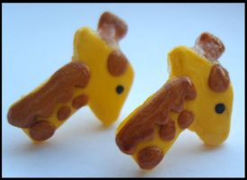 giraffe earrings comission by citruscouture