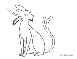 Espeon Lineart by ChillyAcademic