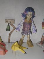 Kafei's bell sign papercraft by killero94