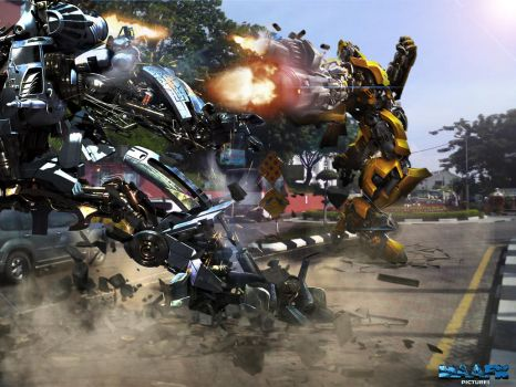 Transformers robots fight in Malaysia by ashrafcrew