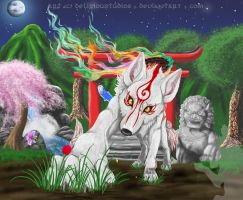 Amaterasu - Background? by DeliriouStudios