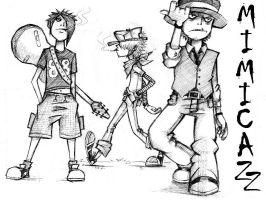 Mimicazz the Gorillaz style by Murdockh