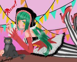 ~Cat Food~ Hatsune Miku by monkeyshan